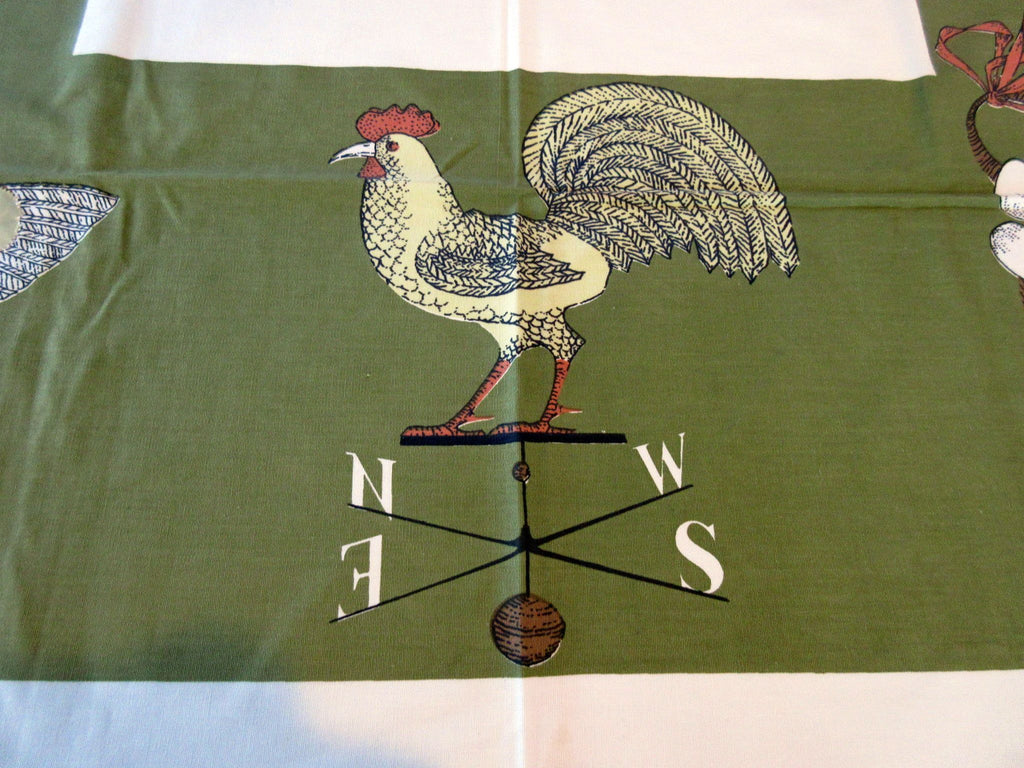 Di Antonio Rooster Weather Vanes MWT Novelty Vintage Tablecloth (53 X 53)