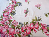 Cute Pink Fruit Linen Vintage Printed Tablecloth (65 X 50)