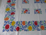 HTF Mod Primary Oranges Fruit Vintage Printed Tablecloth (50 X 48)