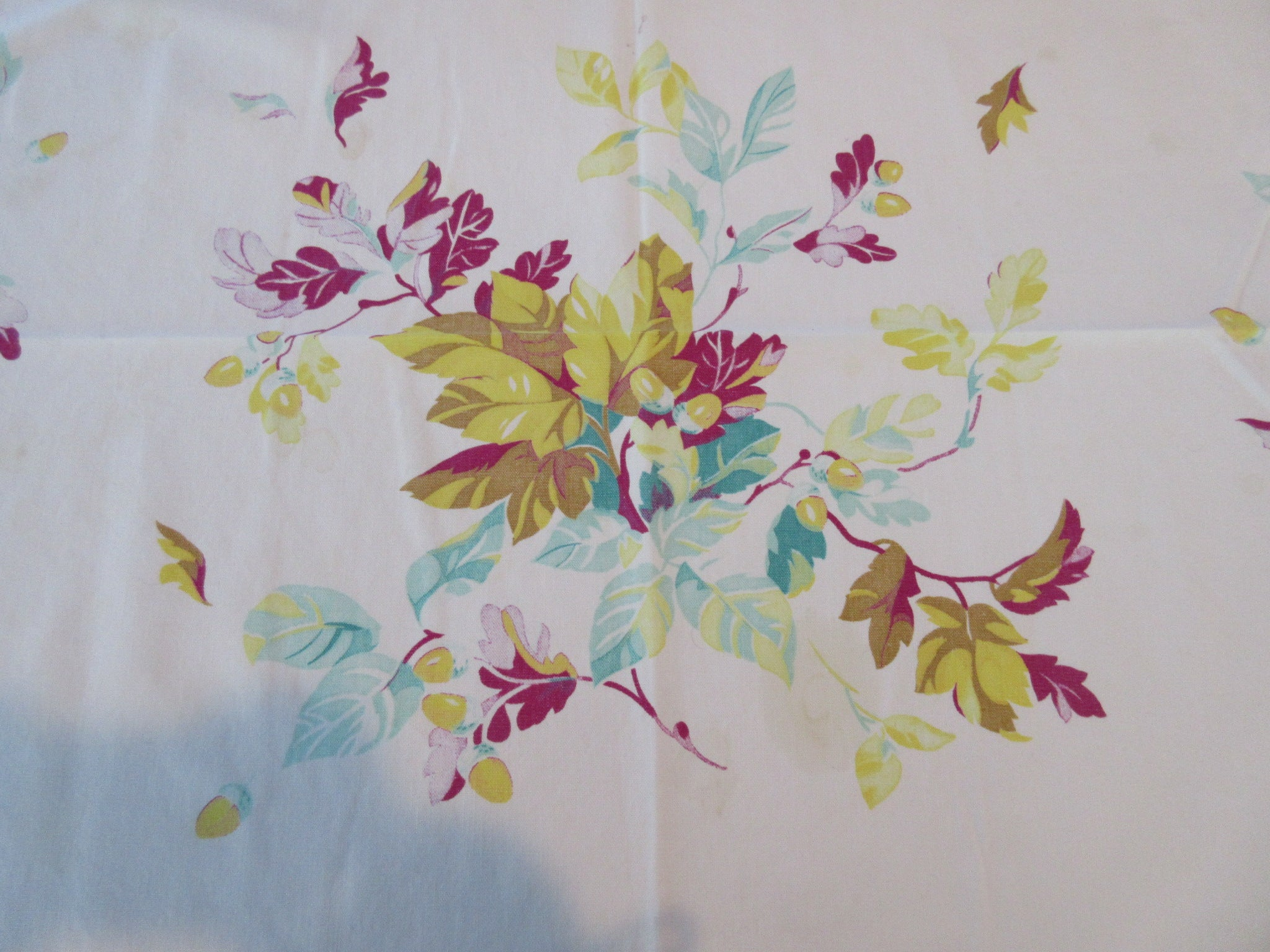 Wilendur Fall Oak Leaves Cutter Floral Vintage Printed Tablecloth