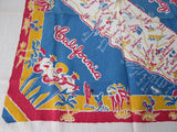 Unwashed California State Souvenir Vintage Printed Tablecloth (39 X 35)