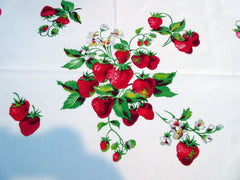 Wilendur Strawberry Bunches Fruit Vintage Printed Tablecloth (54 X 48)