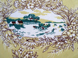 HTF Four Seasons Fall Harvest Napkins Novelty Vintage Printed Tablecloth (53 X 48)