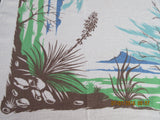 Unusual CHP Desert Cactus Cacti Novelty Vintage Printed Tablecloth (69 X 56)