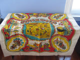 Arizona State Souvenir Kachinas MWT Vintage Printed Tablecloth (51 X 49)