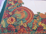 RECTANGLE A 60x84 Thanksgiving Turkey Bardwill NOS Retro Printed Tablecloth (82 X 58)