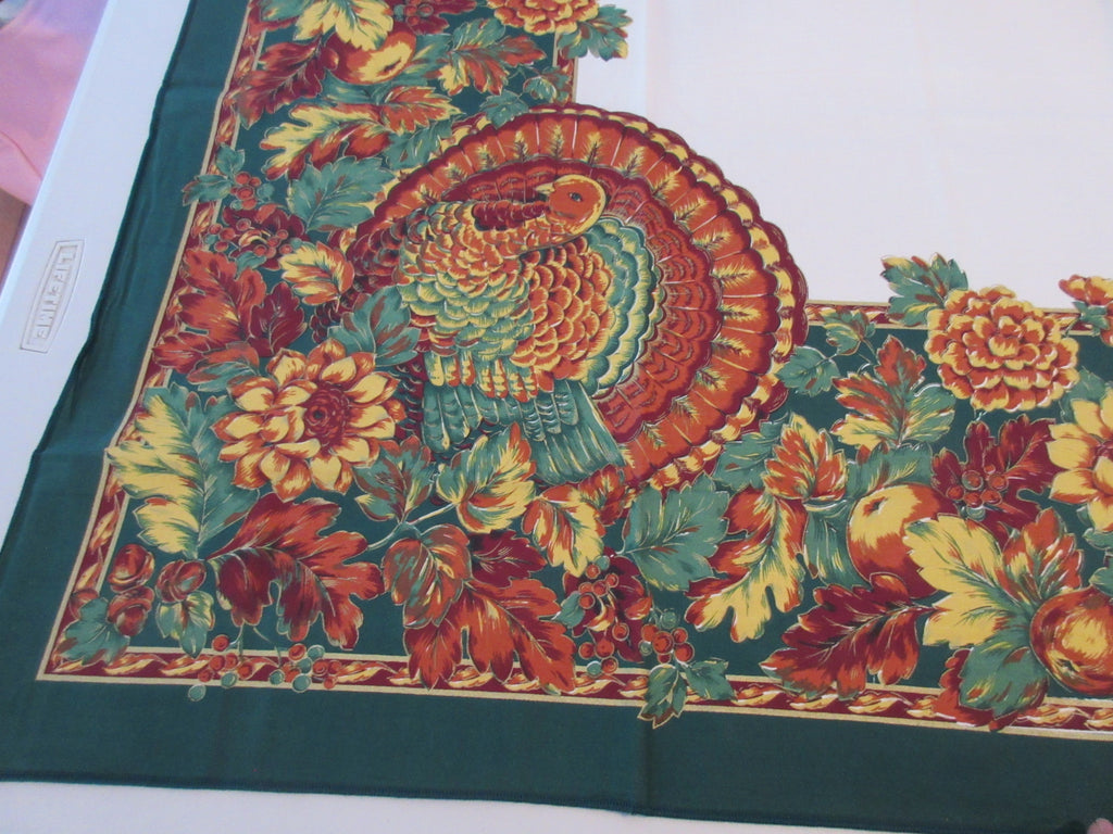RECTANGLE B 60x84 Thanksgiving Turkey Bardwill NOS Retro Printed Tablecloth (82 X 59)