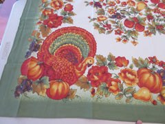 RECTANGLE 60x102 Thanksgiving Turkey Bardwill NOS Retro Printed Tablecloth (102 X 60)