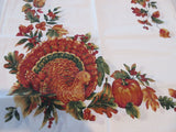 4 NAPKINS Thanksgiving Turkey Bardwill NOS Retro Printed (16.5 Square)