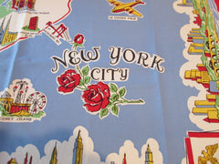 Unused New York City NYC Souvenir Novelty Vintage Printed Tablecloth (50 X 48)