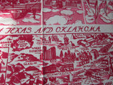 Unwashed Texas Oklahoma State Souvenir Vintage Printed Tablecloth (50 X 48)