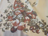Larger Horn of Plenty Thanksgiving Novelty Vintage Printed Tablecloth (81 X 58)