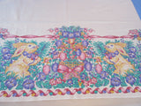 Retro Rectangular Easter Bunny Egg Tree Novelty Vintage Printed Tablecloth (77 X 56)