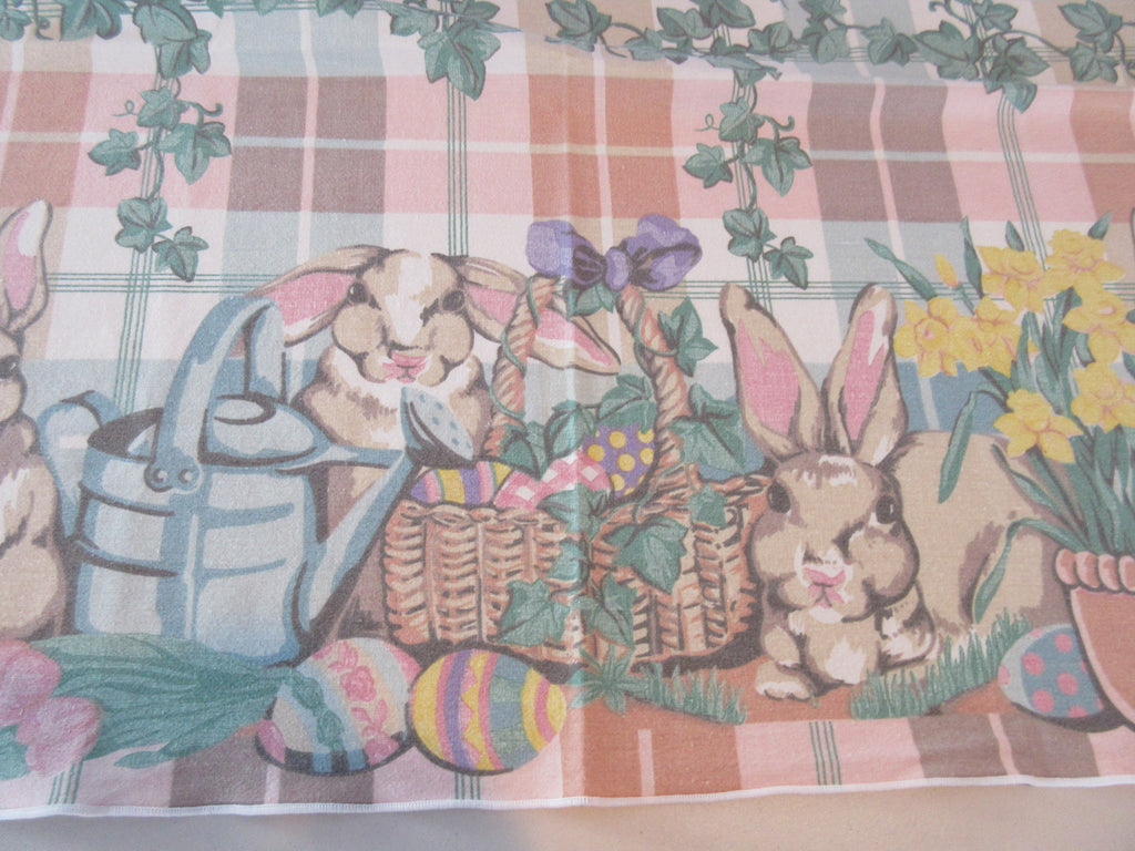 Square Fallani Cohn Easter Bunny Novelty Vintage Printed Tablecloth (53 X 49)