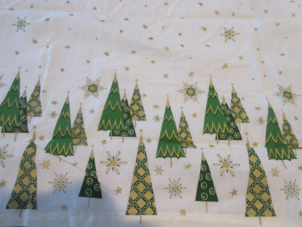 RECTANGLE 60x120 Starry Forest Martha Stewart NOS Retro Printed Tablecloth (119 X 59 actual)