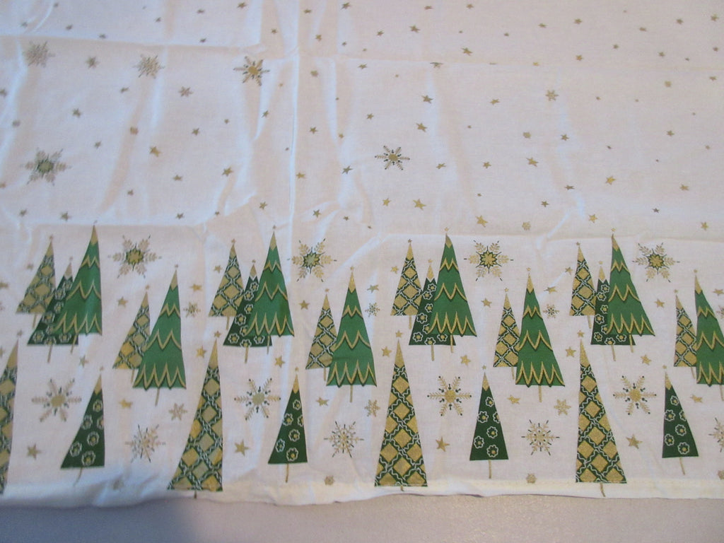 RECTANGLE 60x102 Starry Forest Martha Stewart NOS Retro Printed Tablecloth (101 X 59 actual)