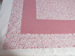 Gray Daisies on Pink Cutter? Simtex Floral Vintage Printed Tablecloth (65 X 53)