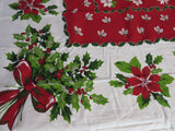 RECTANGLE 60x102 Woodland Holiday Martha Stewart NOS Retro Printed Tablecloth (102 X 61 actual)