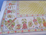 Shabby American Revolution Liberty Bell Colonial Cutter Vintage Printed Tablecloth (60 X 50)