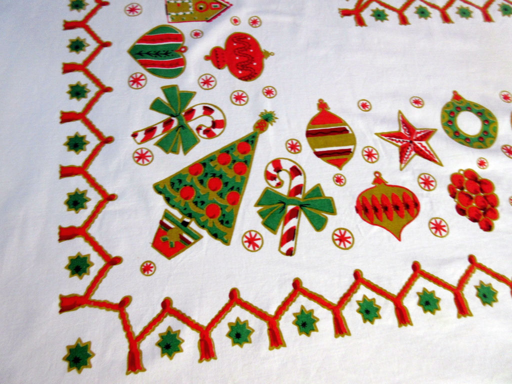 Christmas Gingerbread Cookies Vintage Printed Tablecloth (72 X 60)