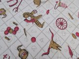 Cowboy Wild West Cutter? Novelty Vintage Printed Tablecloth (61 X 52)