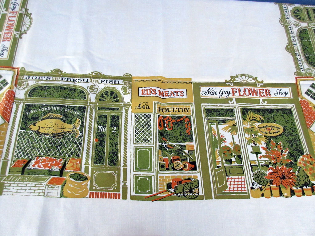 Unwashed Stores Unusual Shops Linen Novelty Vintage Printed Tablecloth (51 X 50)