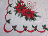 Terry Christmas Candles MWT Vintage Printed Tablecloth (69 X 54)