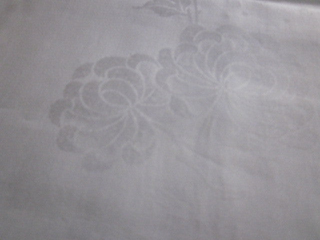 Irish Linen Chrysanthemum Damask MWT Vintage Tablecloth (86 X 68)
