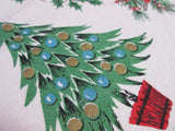 Blue Pink Icons RECTANGLE Christmas Vintage Printed Tablecloth (62 X 48)