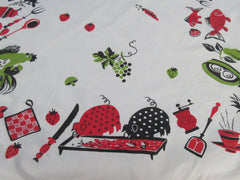 Funky Colored BBQ Barbecue Cow Rectangle Novelty Vintage Printed Tablecloth (75 X 36)