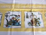 Yellow Kitchen Copperware NWT Novelty Vintage Tablecloth (68 X 50)
