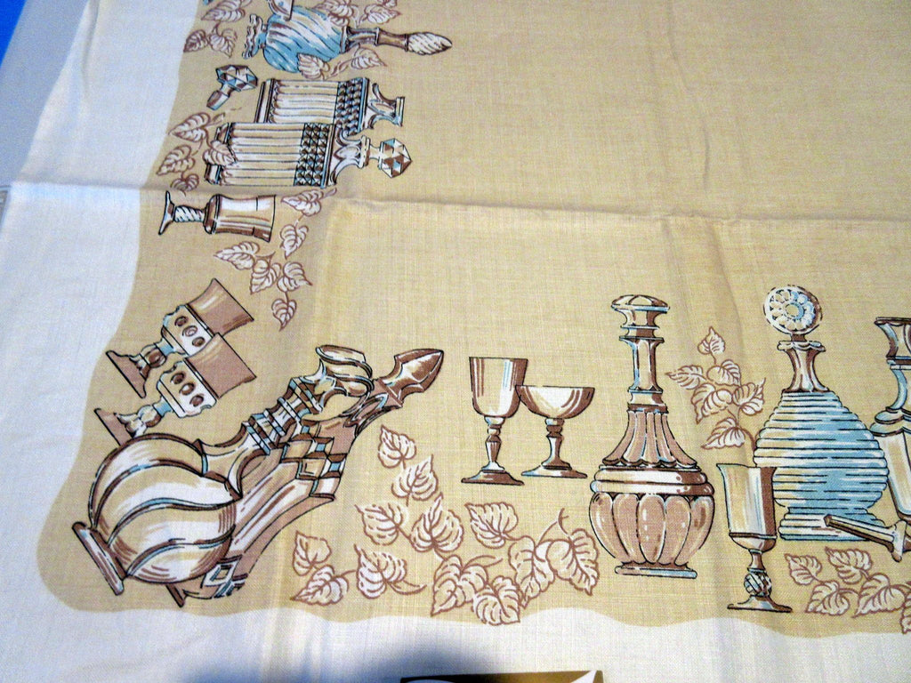 Shabby Best Wishes Cutter? Novelty Vintage Printed Tablecloth (52 X 41)
