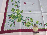 Roses Floral Topper MWT Vintage Printed Tablecloth (39 X 38)