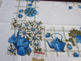 60s Colonial Pitchers MWT Vintage Tablecloth (69 X 51)