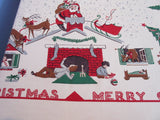 Larger Night Before Christmas Santa Simtex Novelty Vintage Printed Tablecloth (68 X 58)