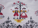 Primary Broderie Dutch Kids Novelty Vintage Printed Tablecloth (52 X 50)