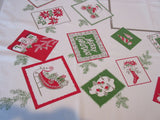 Christmas Cards Santa Ornaments Cutter? Novelty Vintage Printed Tablecloth (52 X 44)