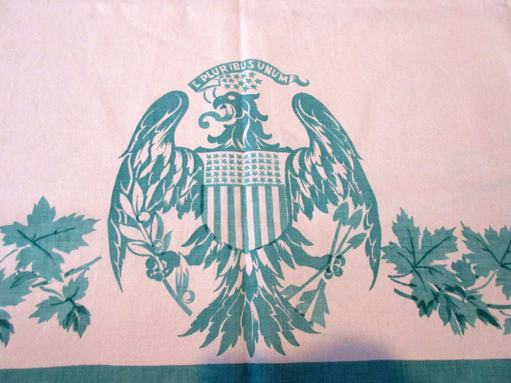 Rare United States Canada Trade Agreement 1939 Linen Napkins Novelty Vintage Printed Tablecloth