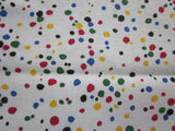 Primary Confetti Polkadots Yellow Novelty Vintage Printed Tablecloth (52 X 49)