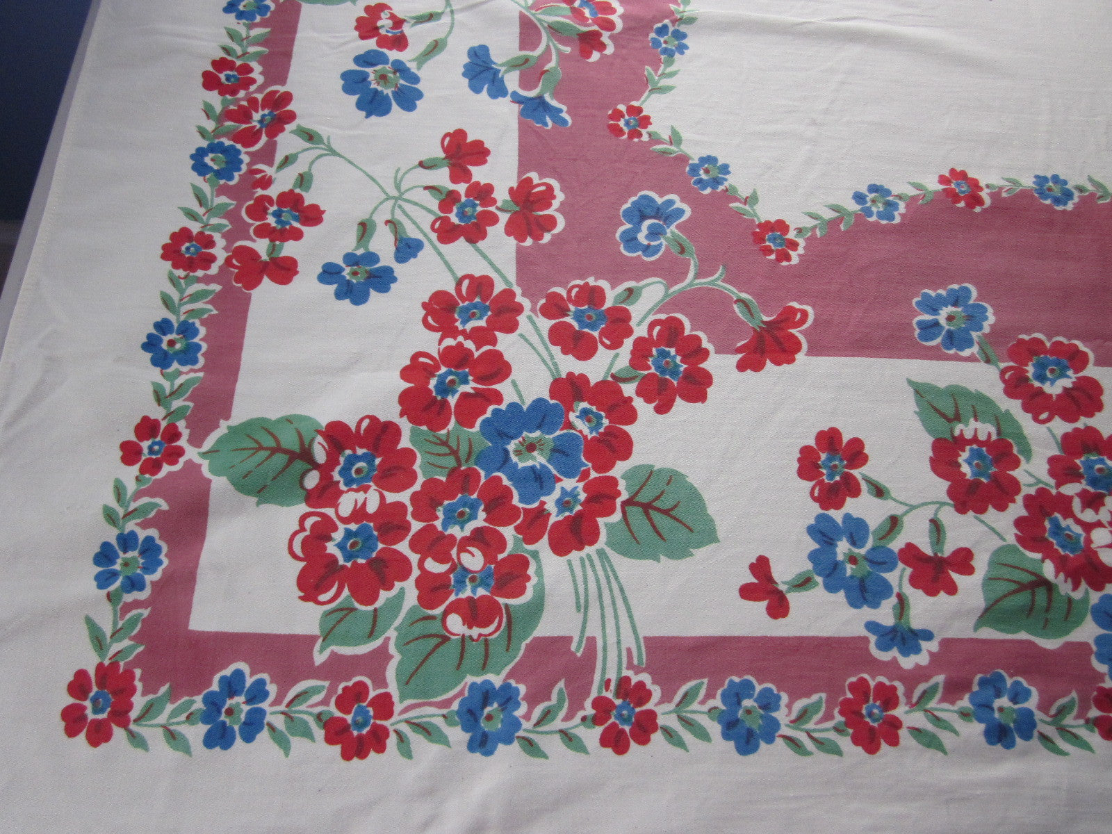 New Pink Floral Cutter? Vintage Tablecloth