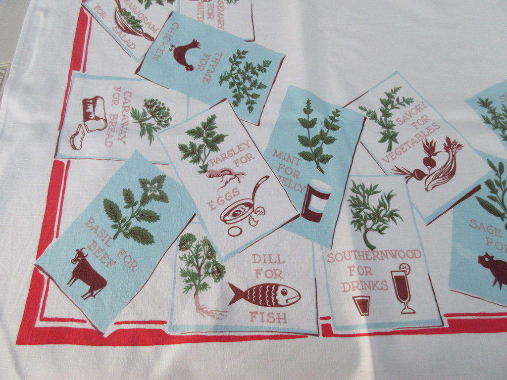 Herbs Food Cartoon Cooking Cutter? Novelty Vintage Printed Tablecloth (60 X 50)