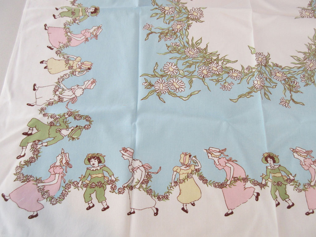 Kate Greenaway Children Novelty Topper Vintage Printed Tablecloth (34 X 33)