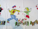 HTF Soda Shop Jitterbug Cartoon Novelty Vintage Printed Tablecloth (49 X 46)