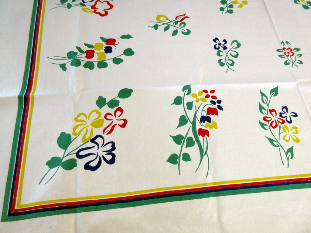 Primary Mod Fiesta Floral NWOT Vintage Printed Tablecloth (52 X 48)