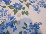 Blue Green Lilacs CUTTER Floral Vintage Printed Tablecloth (51 X 50)