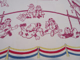 RARE WWII Axis Rats Cartoon Hitler Football Novelty Vintage Printed Tablecloth (52 X 45)