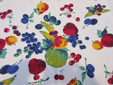 Wilendur Exploding Fruit on Red Vintage Printed Tablecloth (49 X 47)