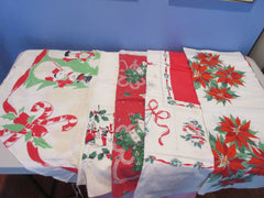 Christmas Cutter Lot A i9740 i0404 i0670 i1010 Vintage Printed Tablecloth