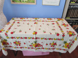 Fruit Cutter Lot E a1741 a0431 Vintage Printed Tablecloth
