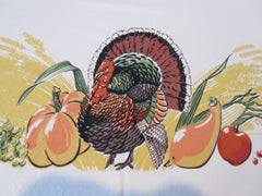HTF Prints Charming Thanksgiving Turkey Banquet Fall Novelty Vintage Printed Tablecloth (89 X 61)